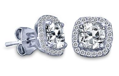 1/2 Carat Diamond Earrings (H-VS)