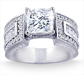 2 75 Carat Wide Band Diamond Engagement Ring