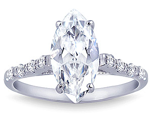 2 Carat Center Diamond Engagement Ring