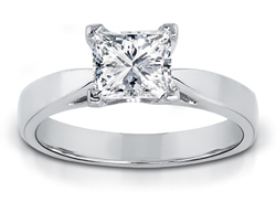 1.00 Carat Princess-Cut Diamond Solitaire Ring