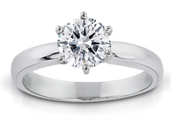 1.00 Carat Round-Cut Diamond Solitaire Ring