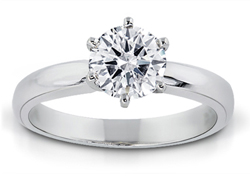 3/4 Carat Round-Cut Diamond Solitaire Ring