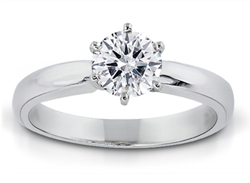 1/10 Carat Round-Cut Diamond Solitaire Ring