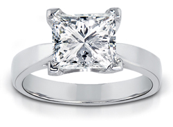 1.50 Carat Princess-Cut Diamond Solitaire Ring