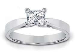 1/4 Carat Princess-Cut Diamond Solitaire Ring