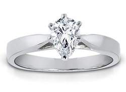 1/2 Carat Pear-Shape Diamond Solitaire Ring