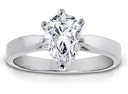 1.25 Carat Pear-Shape Diamond Solitaire Ring