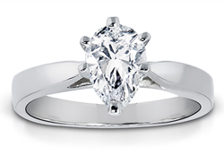 1.00 Carat Pear-Shape Diamond Solitaire Ring