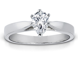 1/4 Carat Pear-Shape Diamond Solitaire Ring