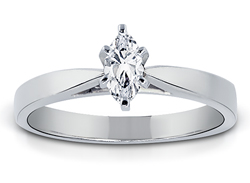 1/2 Carat Marquise-Cut Diamond Solitaire Ring