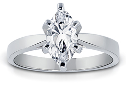 1.25 Carat Marquise-Cut Diamond Solitaire Ring