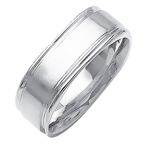 6.5mm Two Tone Wedding Band