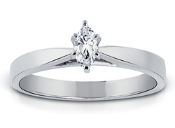 1/4 Carat Marquise-Cut Diamond Solitaire Ring
