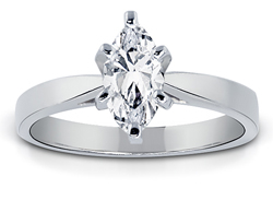 1.00 Carat Marquise-Cut Diamond Solitaire Ring