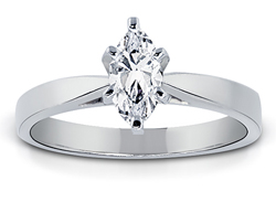 3/4 Carat Marquise-Cut Diamond Solitaire Ring