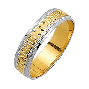 5mm Two Tone Wedding Band