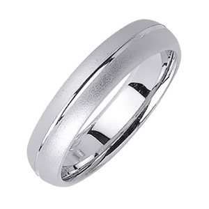 5mm White Gold Wedding Band