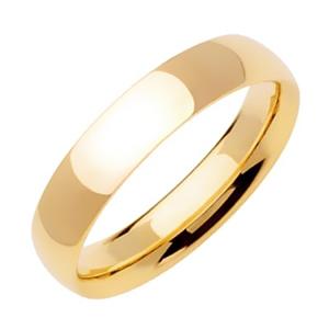5mm Yellow Gold Plain Wedding Band