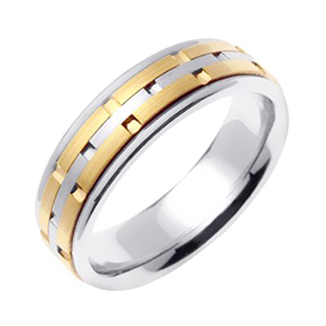 6.5mm Modern Design Wedding Band
