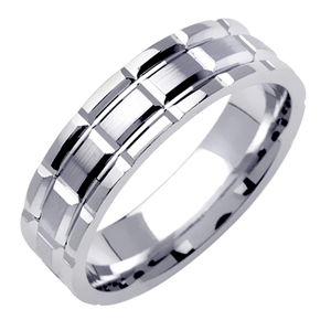 6.5mm White Gold Wedding Band