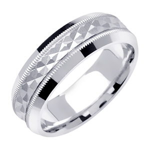 6mm Two Tone Wedding Band