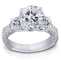 1.00 Carat Cushion-Cut Diamond Solitaire Ring