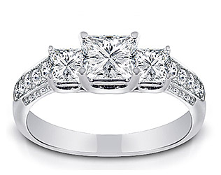 1.00 Carat Cushion-Cut Diamond Solitaire Ring