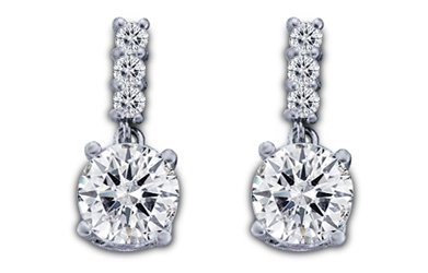 1/2 Carat Diamond Earrings (H-VS)